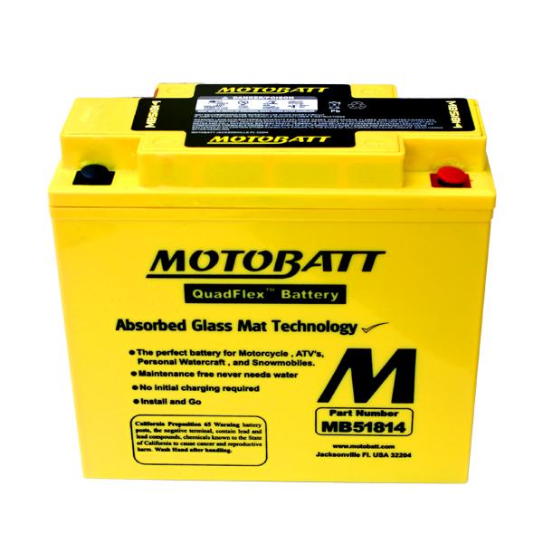 MB51814 MOTOBATT Quadflex AGM Bike Bateria 12V 22Ah